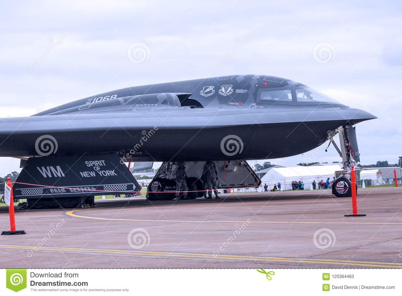 the usaf b2 spirit nuclear stealth bomber editorial stock photo