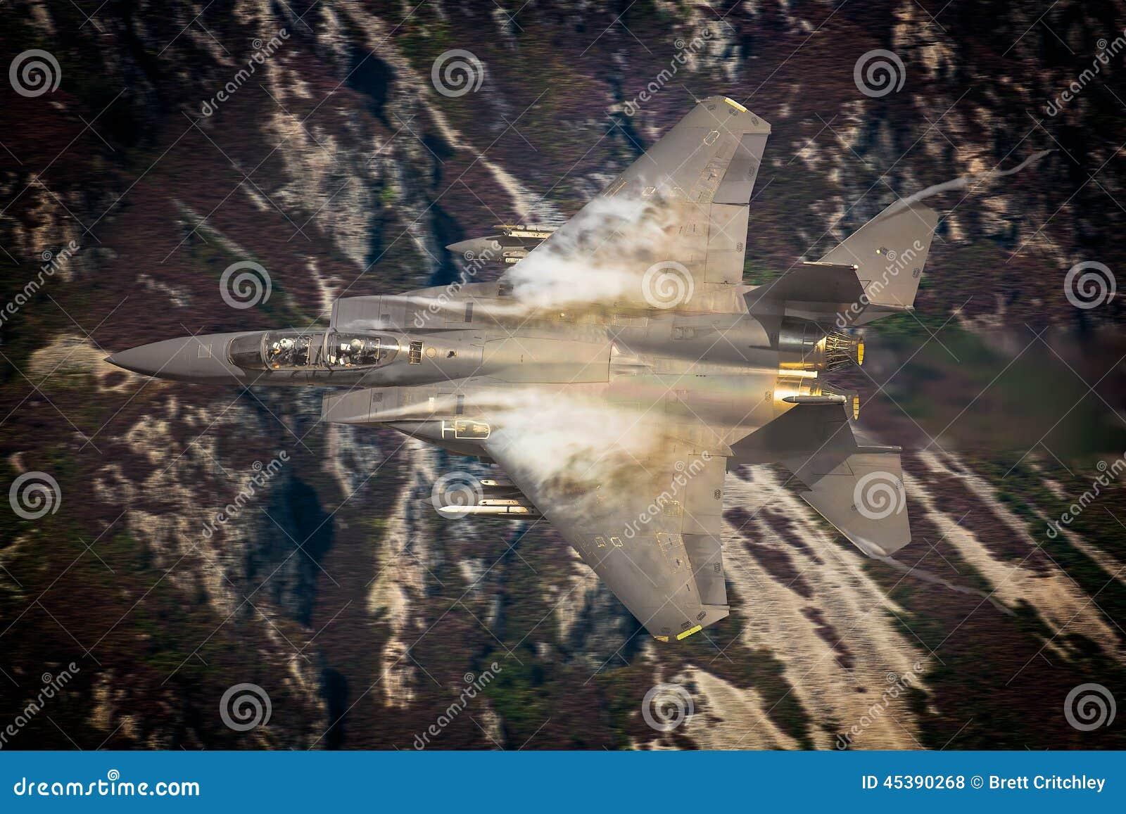 USAF F15 fighter jet