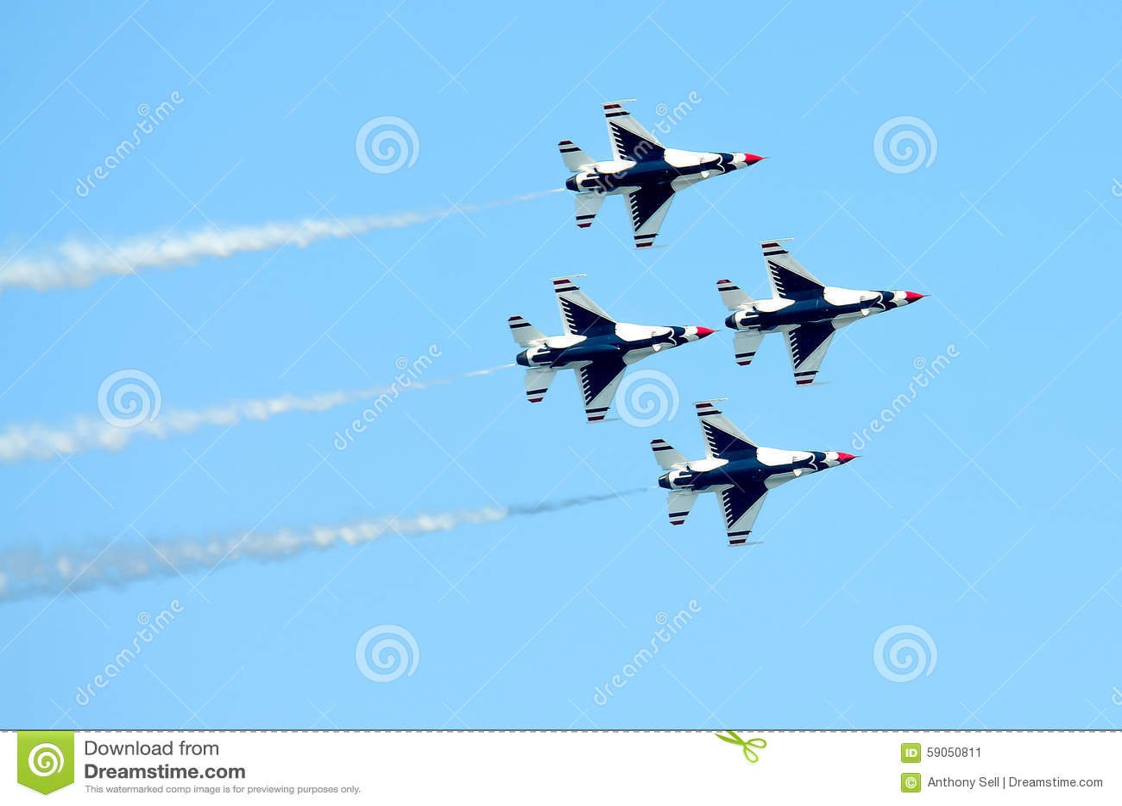 USAF Thunderbirds Diamond Formation