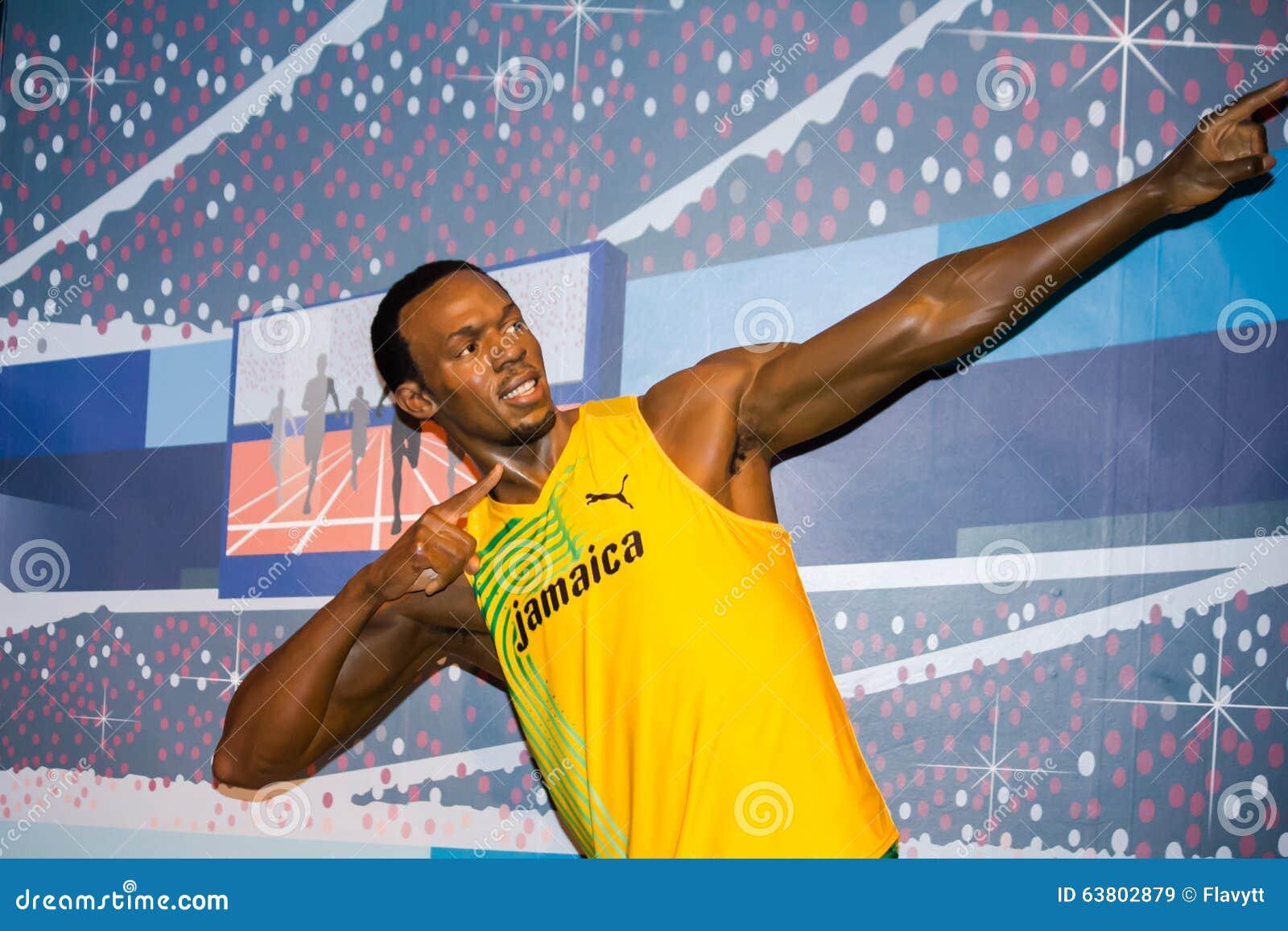 Usain Bolt después de la raza