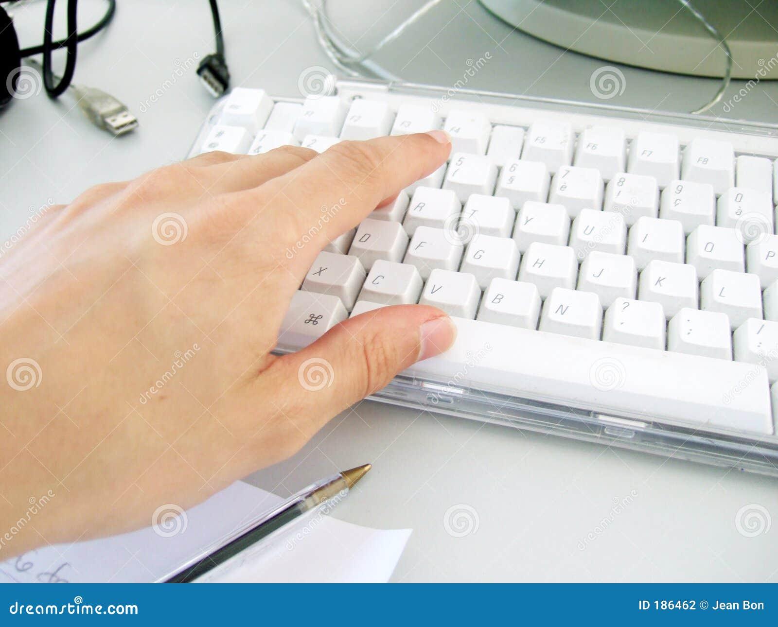 Usando el teclado
