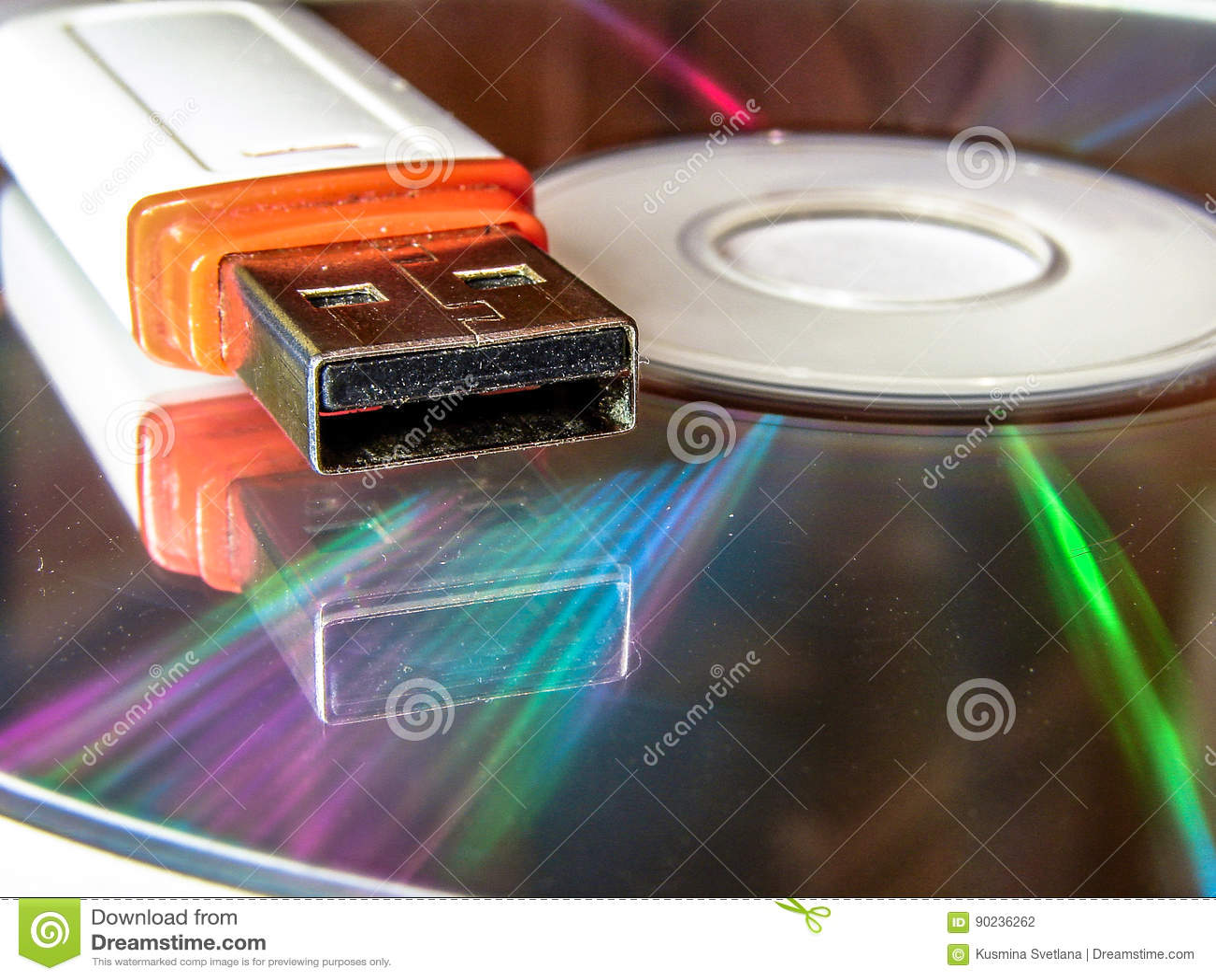 USB闪光驱动和CD