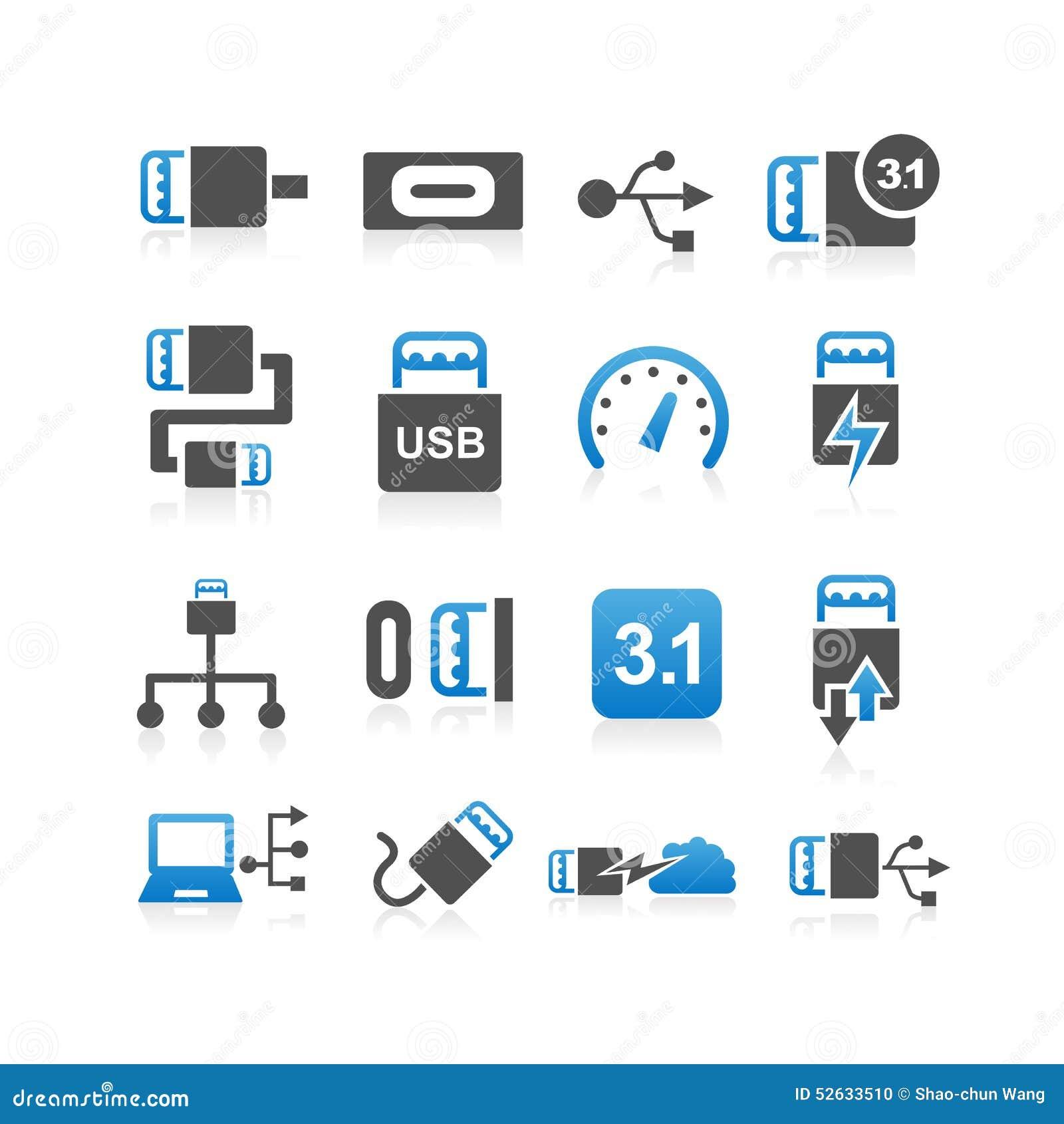 USB类型C象集合