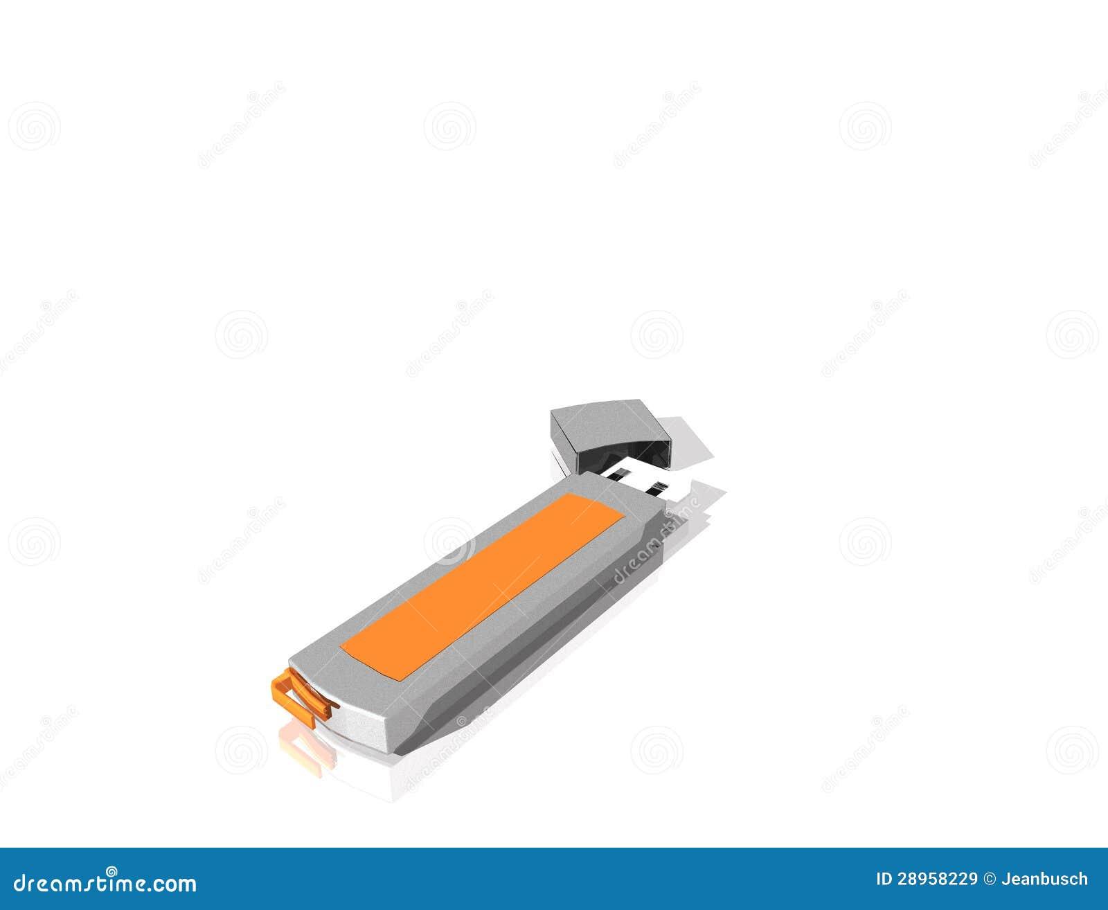USB błyskowy dysk, odizolowywający od tła
