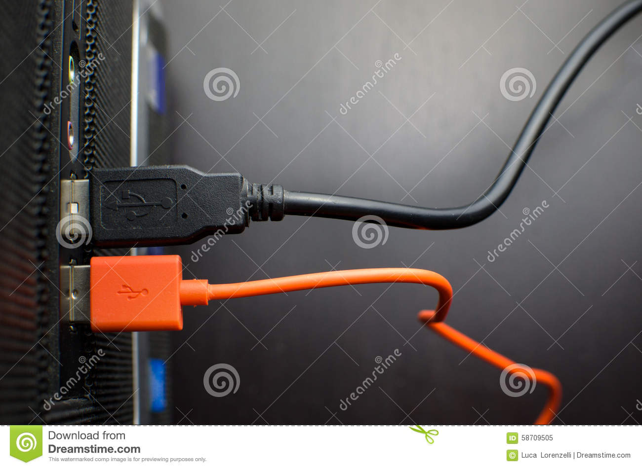 Usb Cable Pc Connected Stock Image Of Wire Computer 58709505 Wiring Diagram