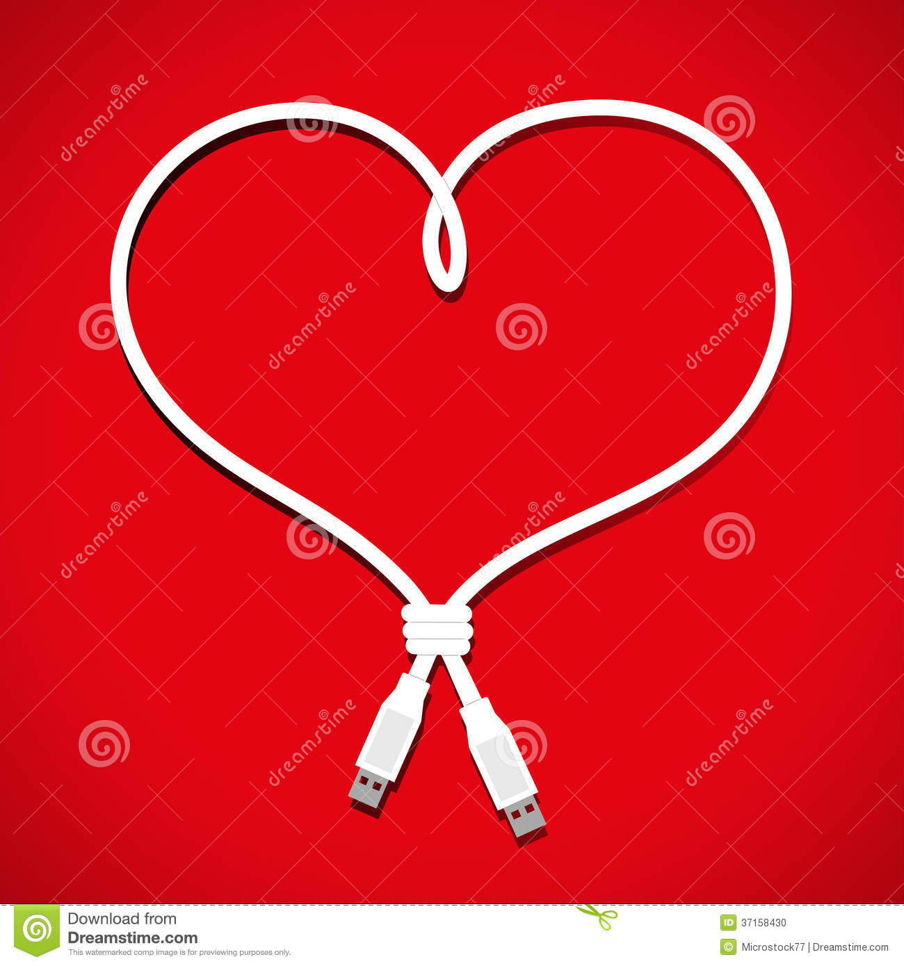 Usb cable heart