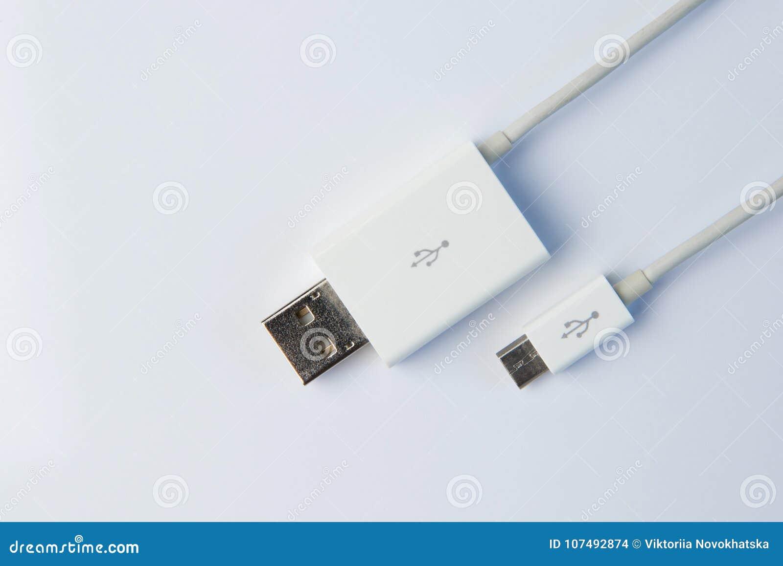 USB connectoon en vit bakgrund