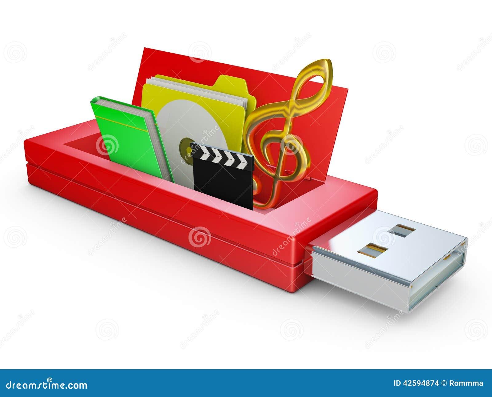 usb drive stock illustration image 42594874. Black Bedroom Furniture Sets. Home Design Ideas