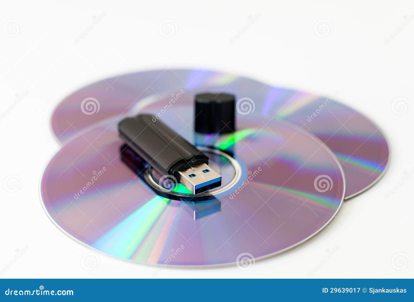 Usb-Gedächtnisstock auf cd Diskette