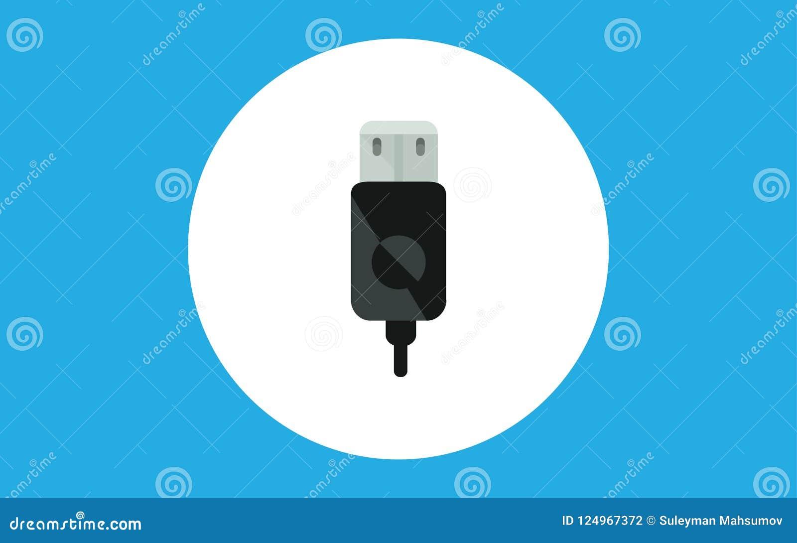 Usb kabla ikony znaka wektorowy symbol