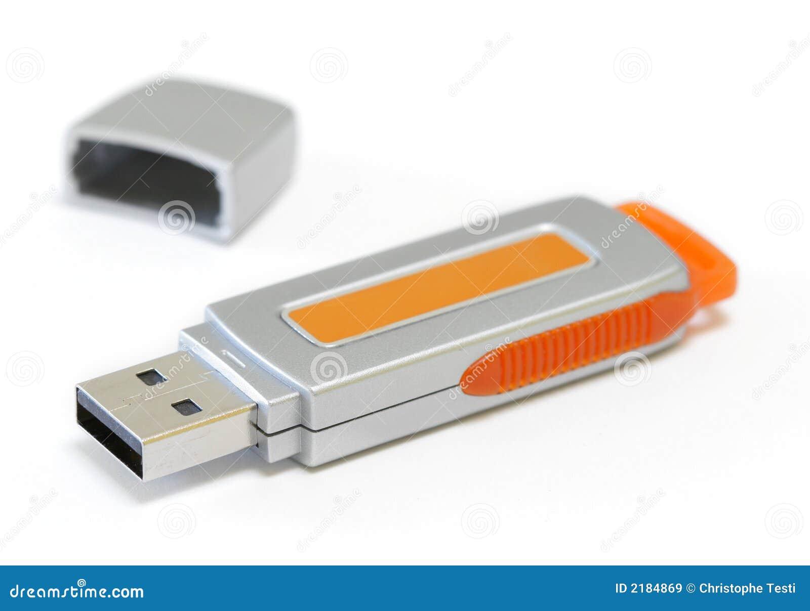 USB key isolated on white
