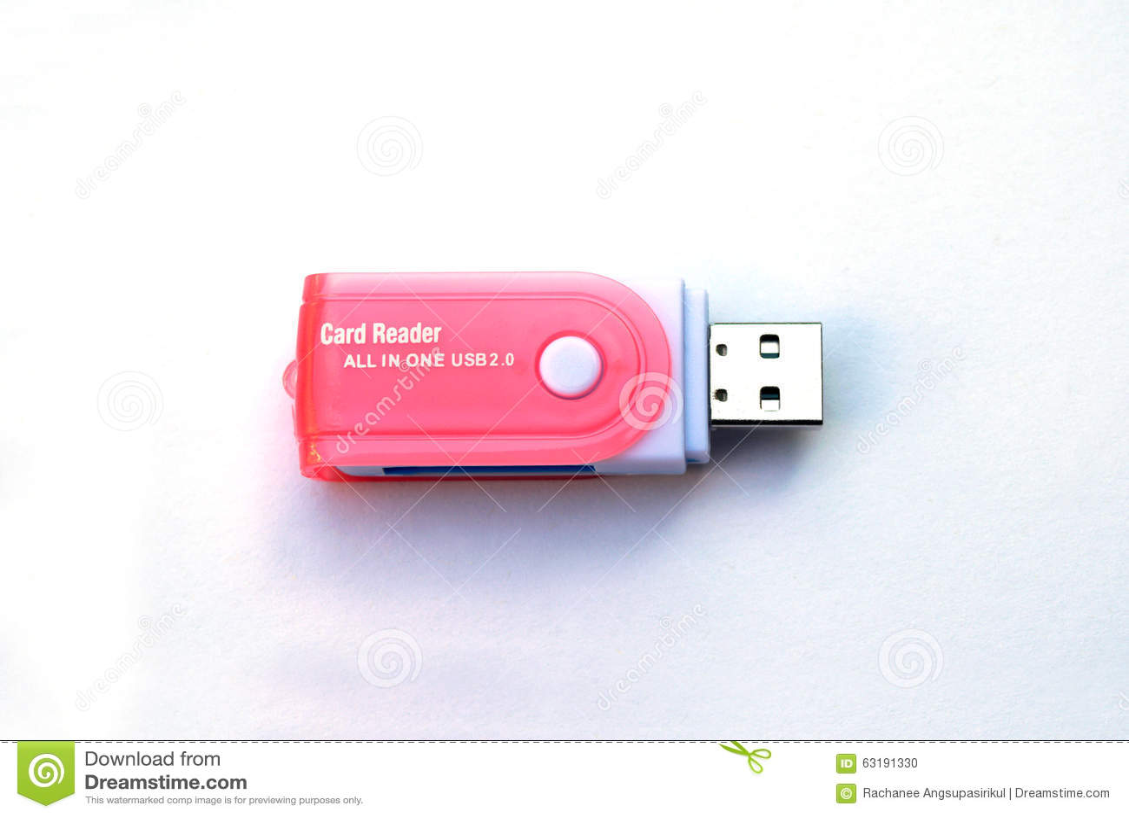 USB Memory Card Reader Stock Photo - Image: 63191330