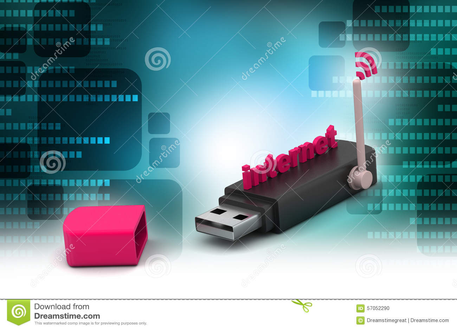 Usb met Internet-verbinding