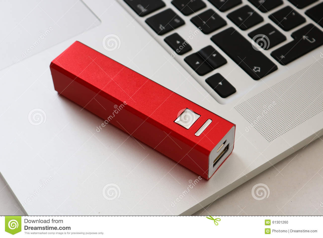 USB Powerbank and a computer