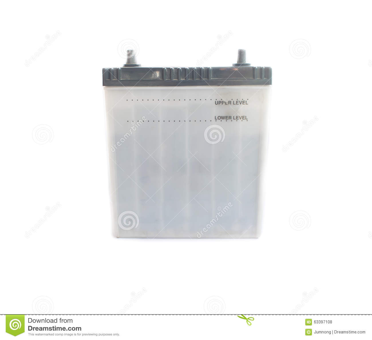 use car battery on white background stock photo image 63397108. Black Bedroom Furniture Sets. Home Design Ideas