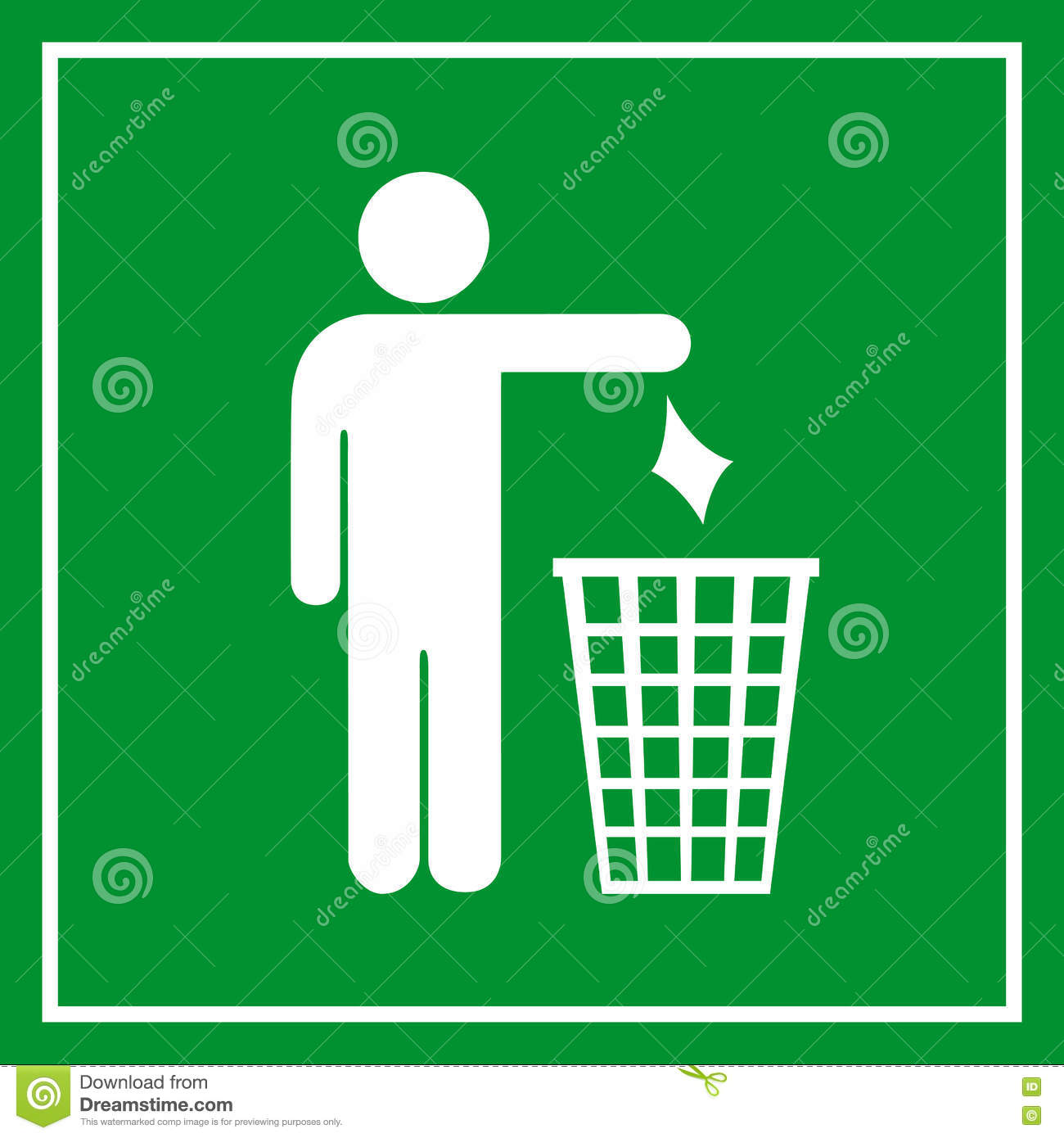 Use A Trash Can No Littering Stock Vector Illustration Of Ecology