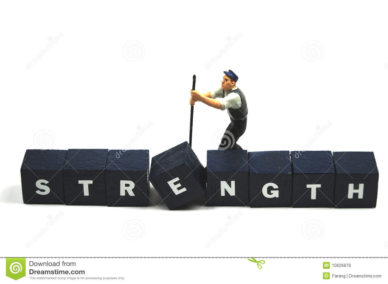 forget about working on your weakness play to your strengths use your strength royalty stock image image 10626876