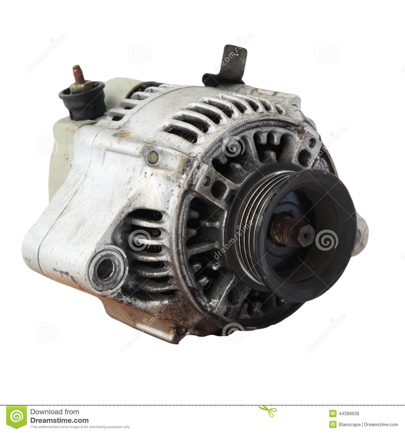 Used Automobile Generator Or Dynamo Isolated Stock Image - Image of energy, engine: 44399639