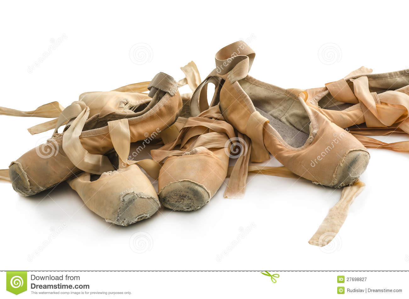 185 Old Used Ballet Shoes Photos - Free