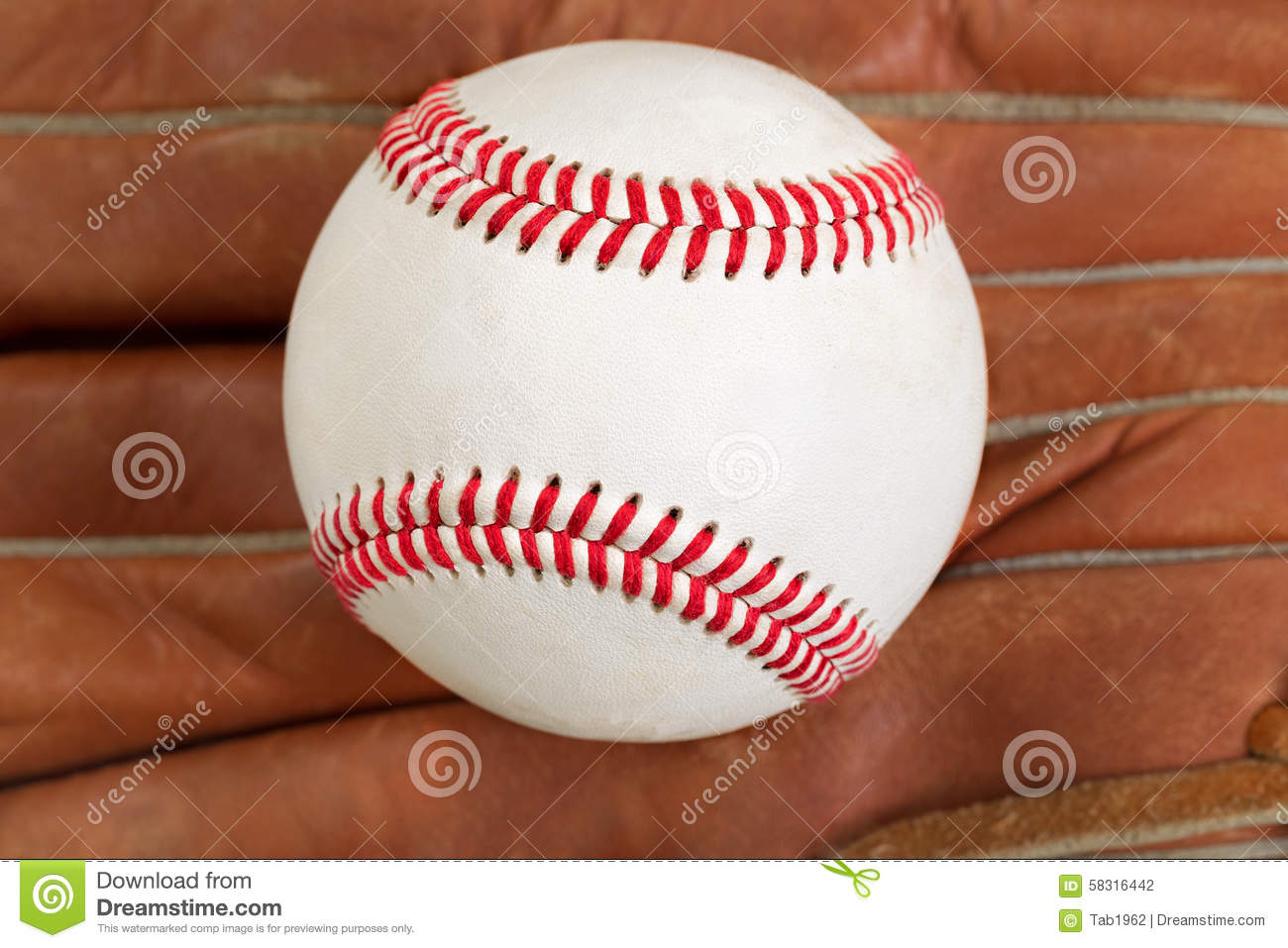 0eed6510fd13 Used Baseball And Glove In Filled Frame Format Stock Photo - Image ...