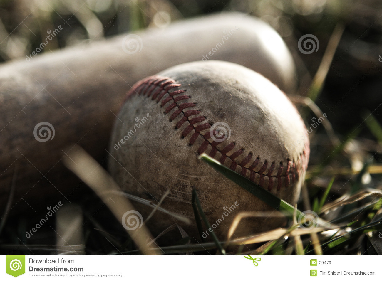 Download Used Bat and Ball stock image. Image of sports, used, worn - 29479