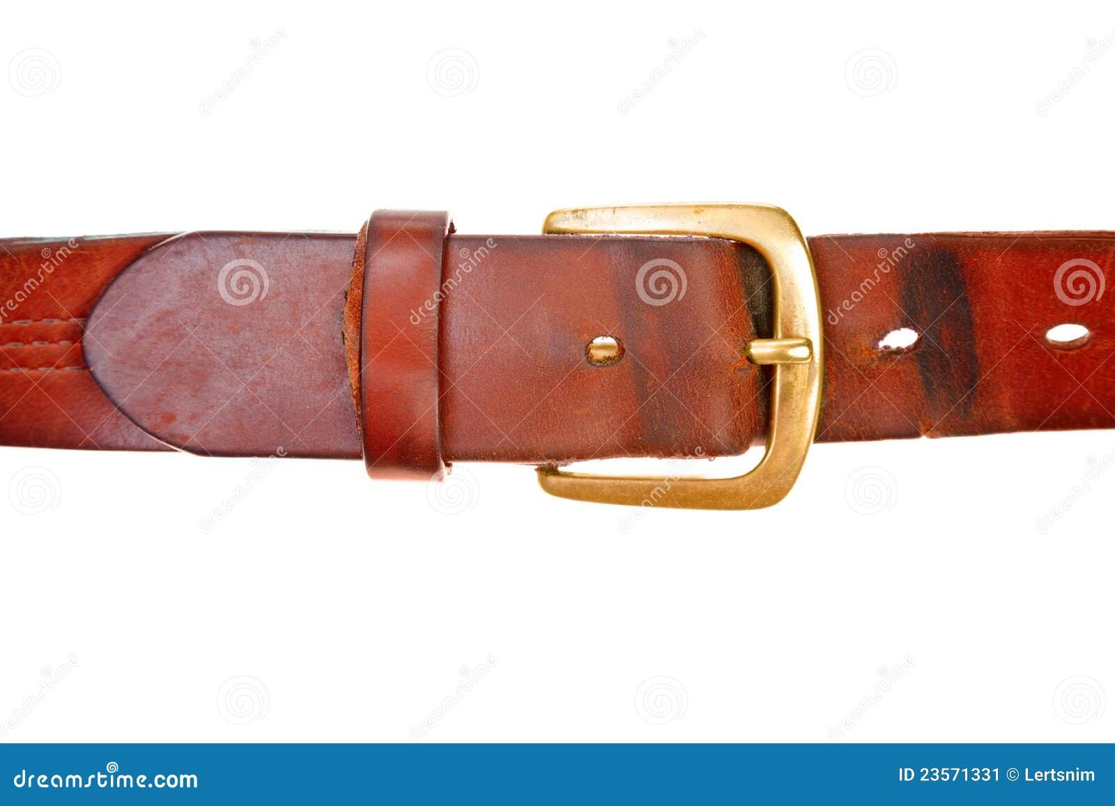 used broun leather belt stock image image 23571331