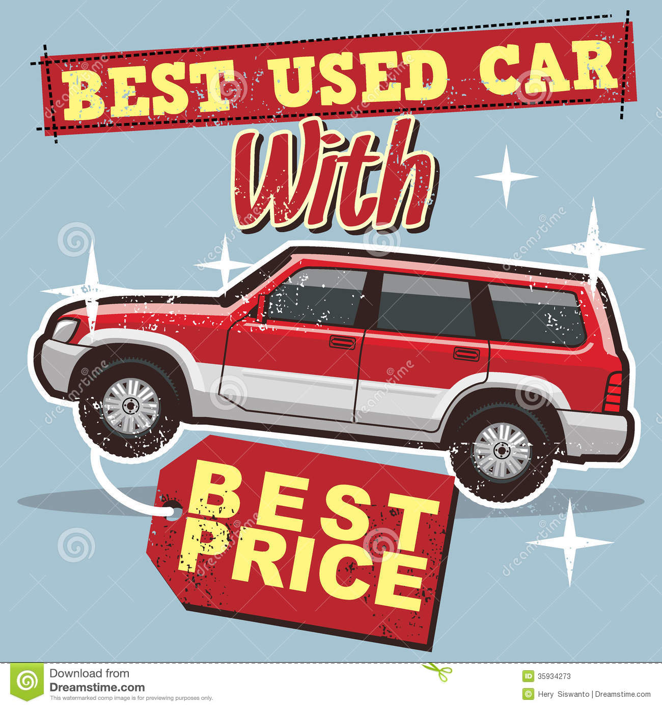 Used Car Poster Stock Photos