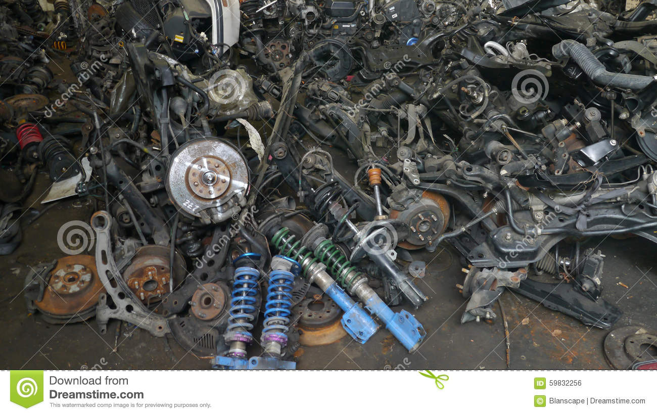 Used Car Spare Parts For Sale Stock Photo - Image of shop, shock ...