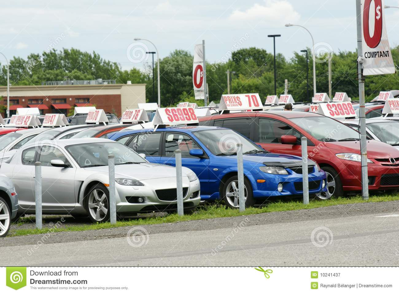 Used cars for sale stock image. Image of lease, drive - 10241437