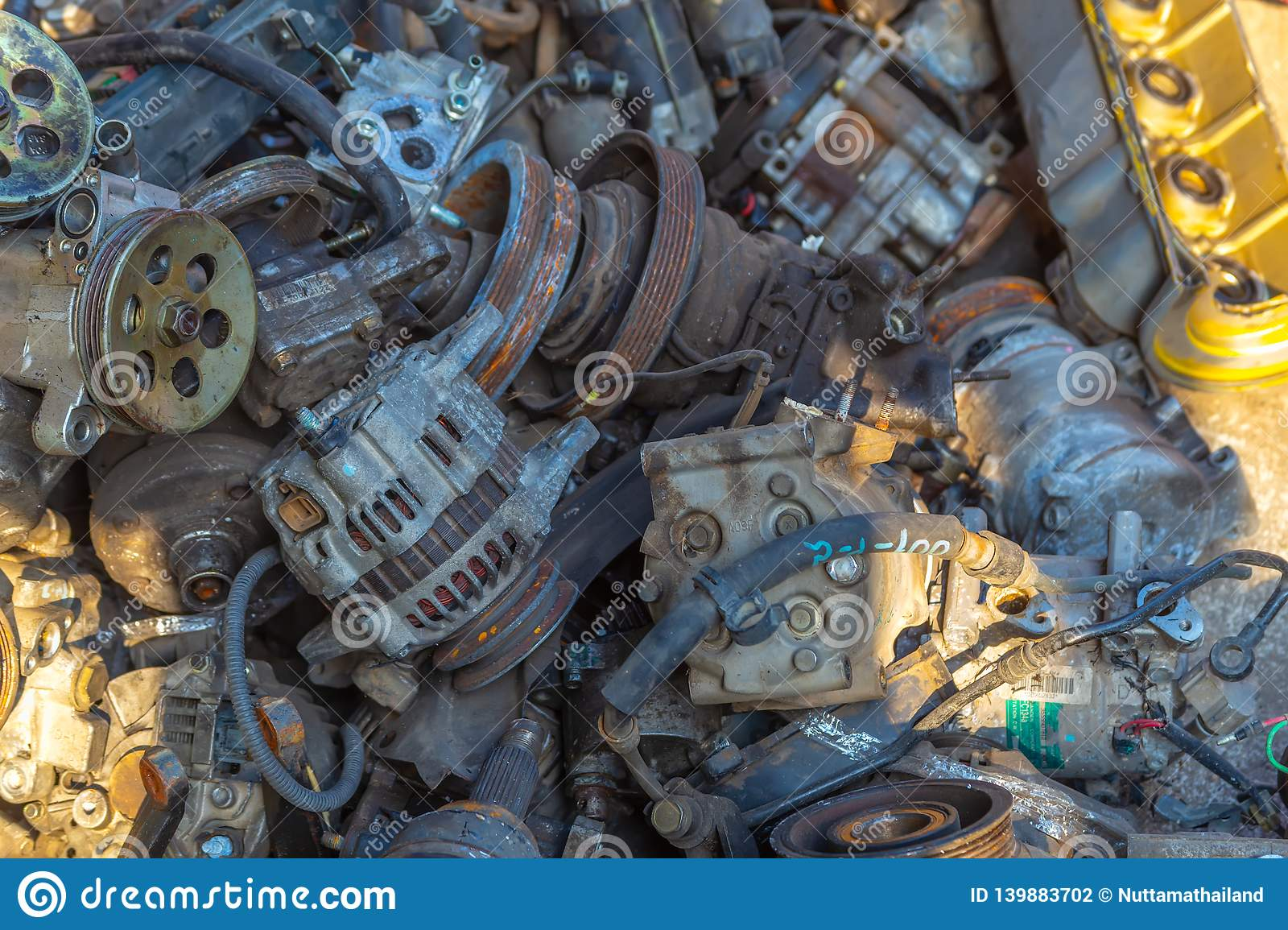 Used Car Engines >> Used Engines Auto Mechanic Repairing Car Stock Photo