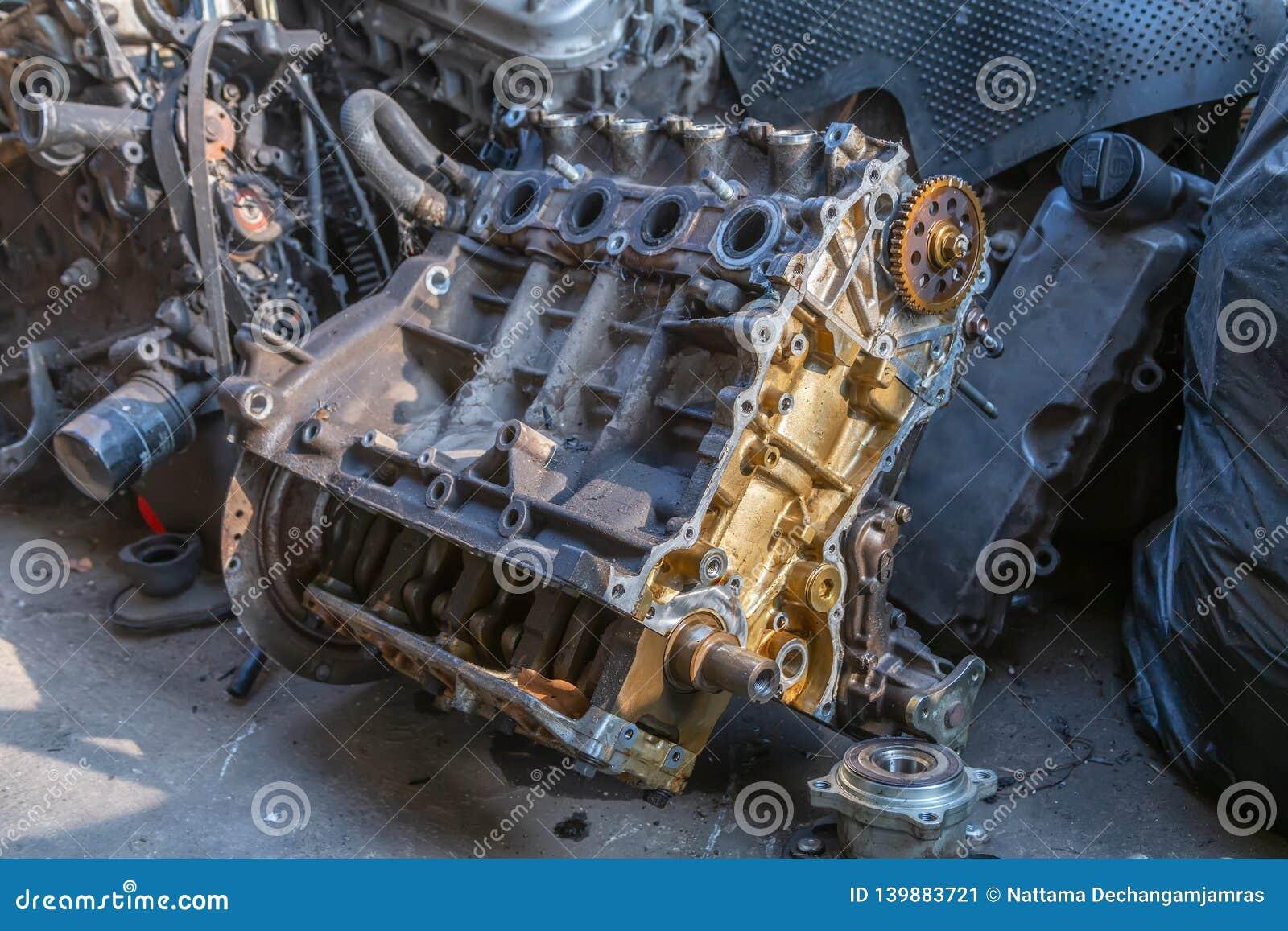 Used Car Engines >> Used Engines Auto Mechanic Repairing Car Stock Image