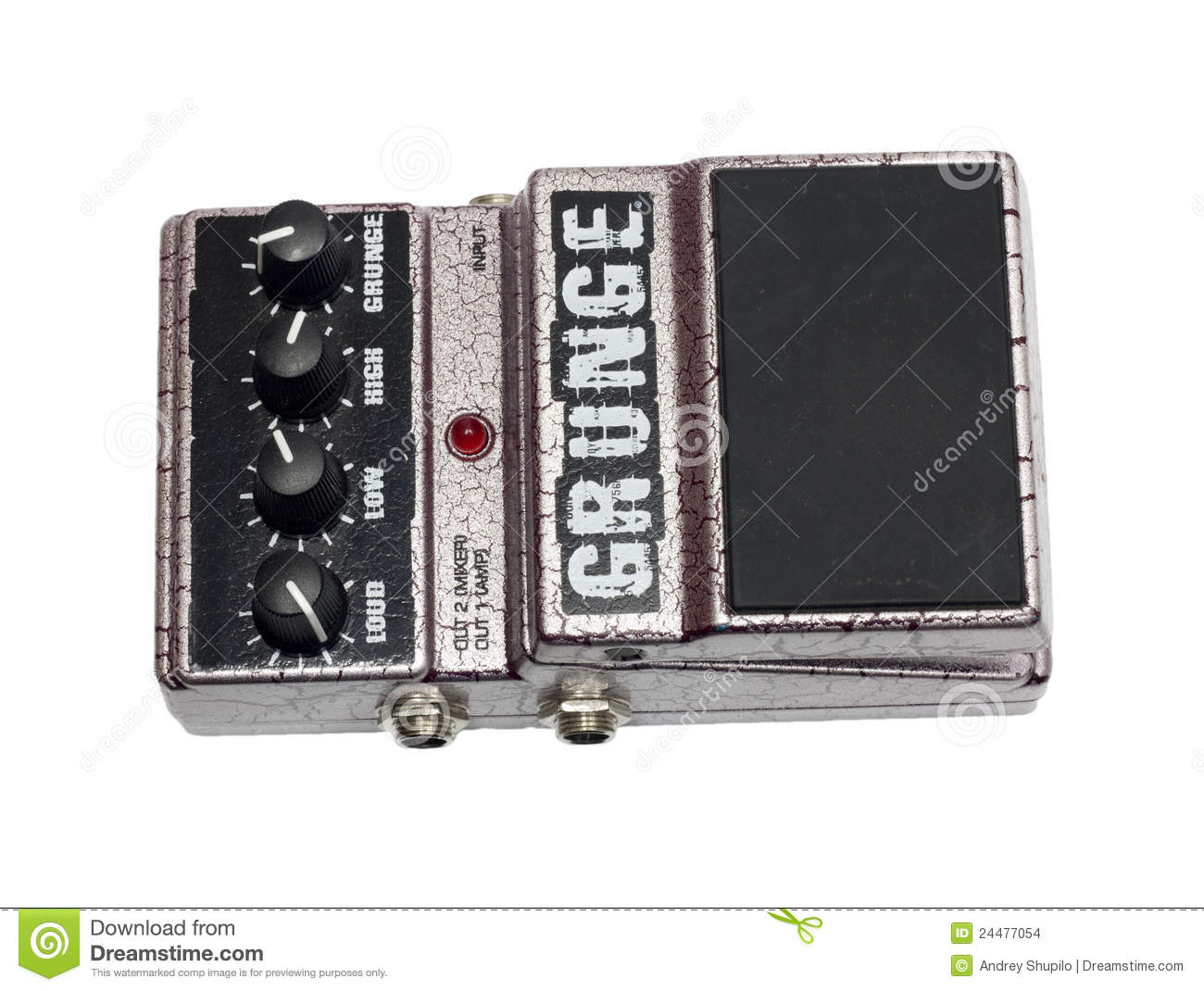 used grunge funky guitar pedal stock photo image of play instrument 24477054. Black Bedroom Furniture Sets. Home Design Ideas