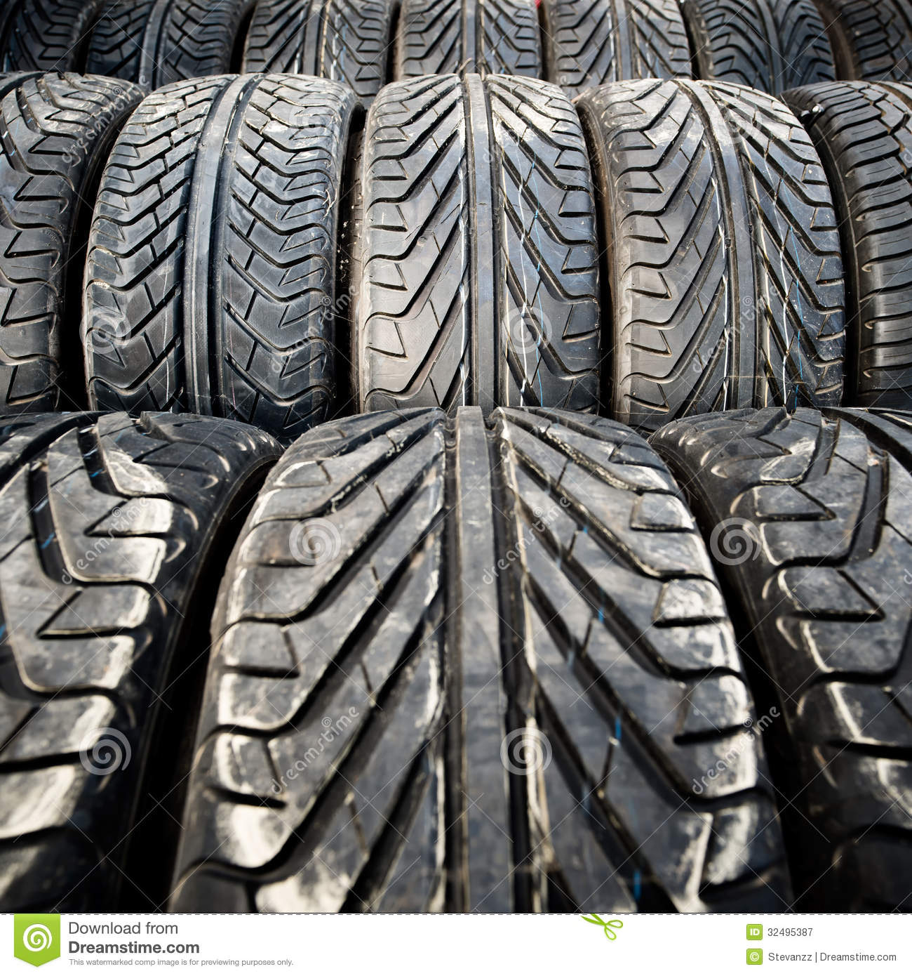 Used Old Car Tires Detail Pattern Background Or Texture