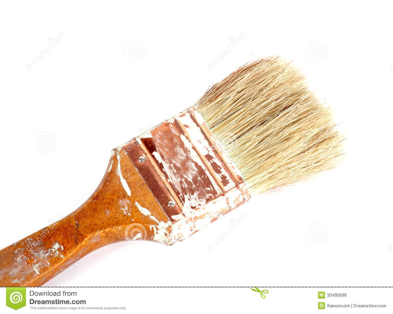 House Builder Tool Used Old Paint Brushes Royalty Free Stock Image Image