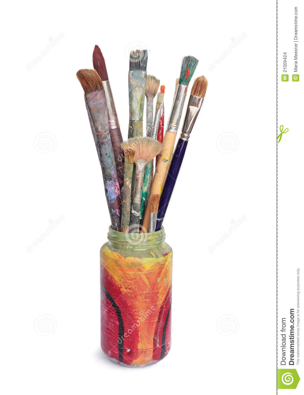 Used Paintbrushes Stock Images Image 21009424