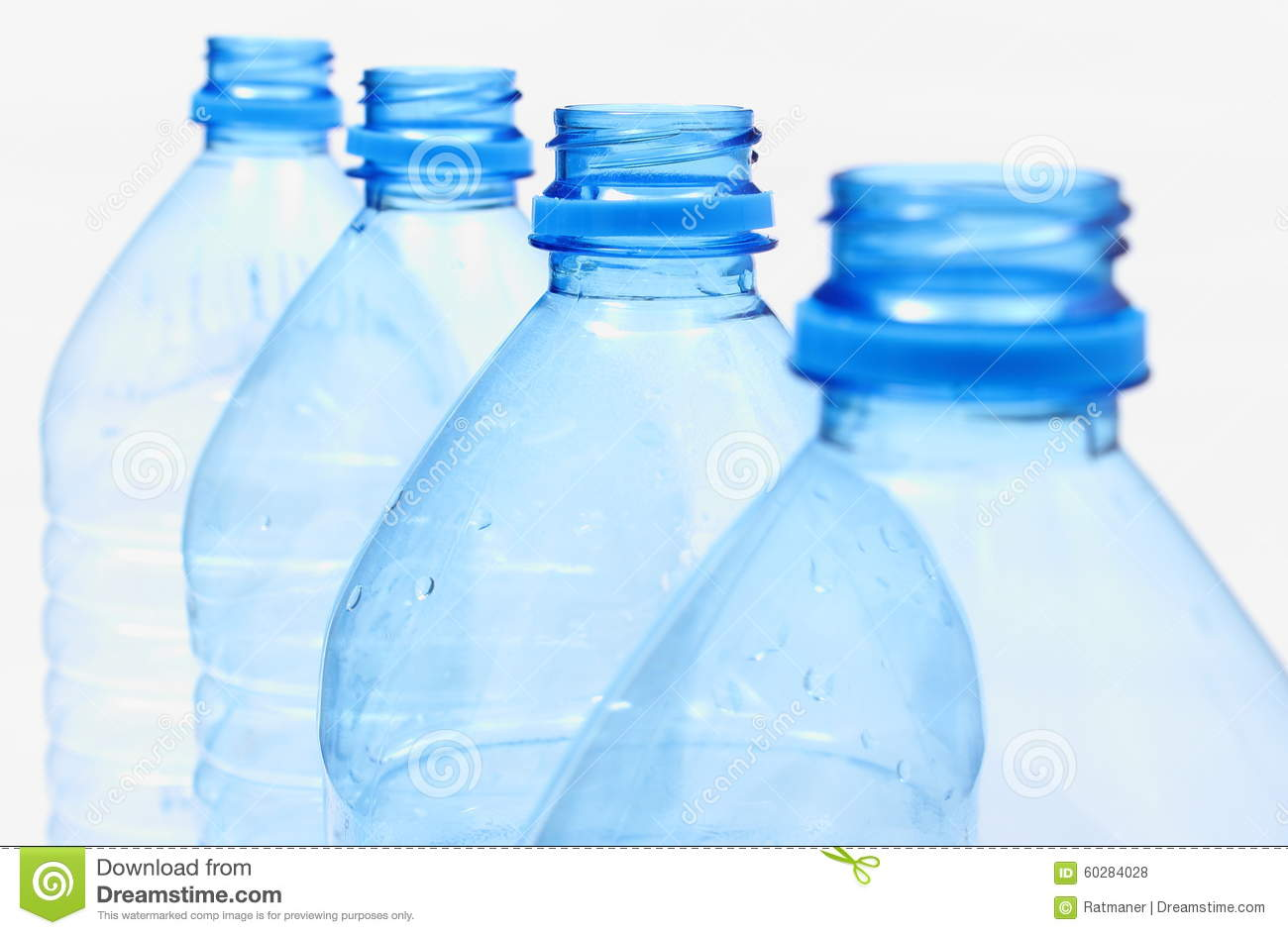 Used Plastic Bottles Of Mineral Water Stock Photo
