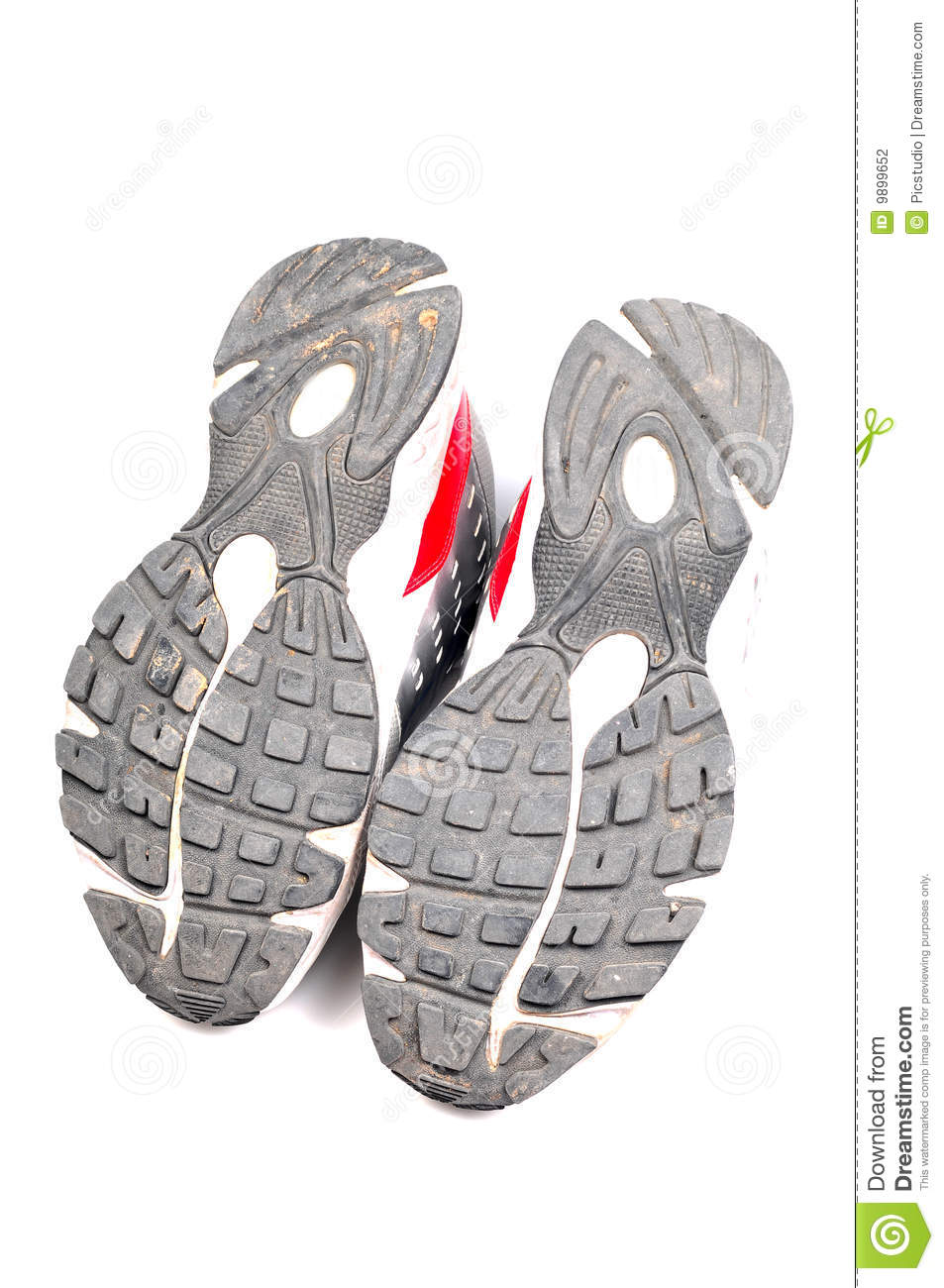 used sports shoe soles stock photography image 9899652