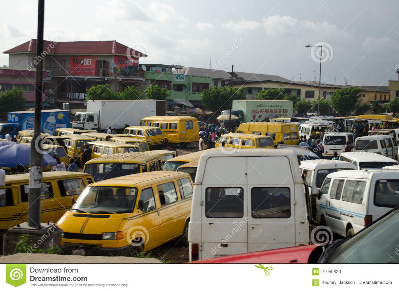 Used Taxi Vehicles For Sale At The Market In Oshodi Editorial Image