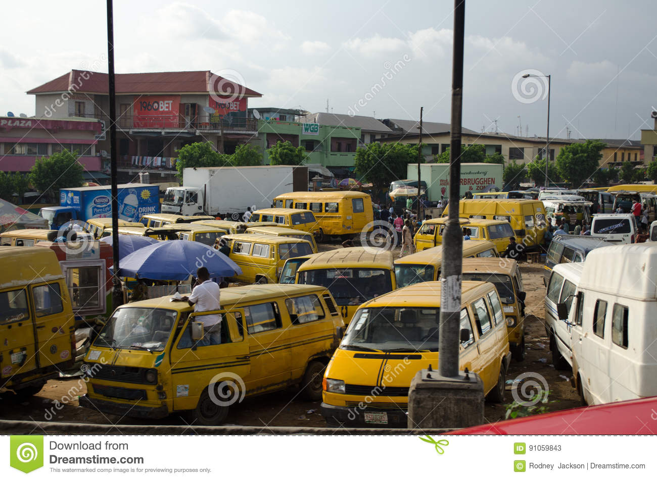 Used Taxi Vehicles For Sale At The Market In Oshodi Editorial Stock