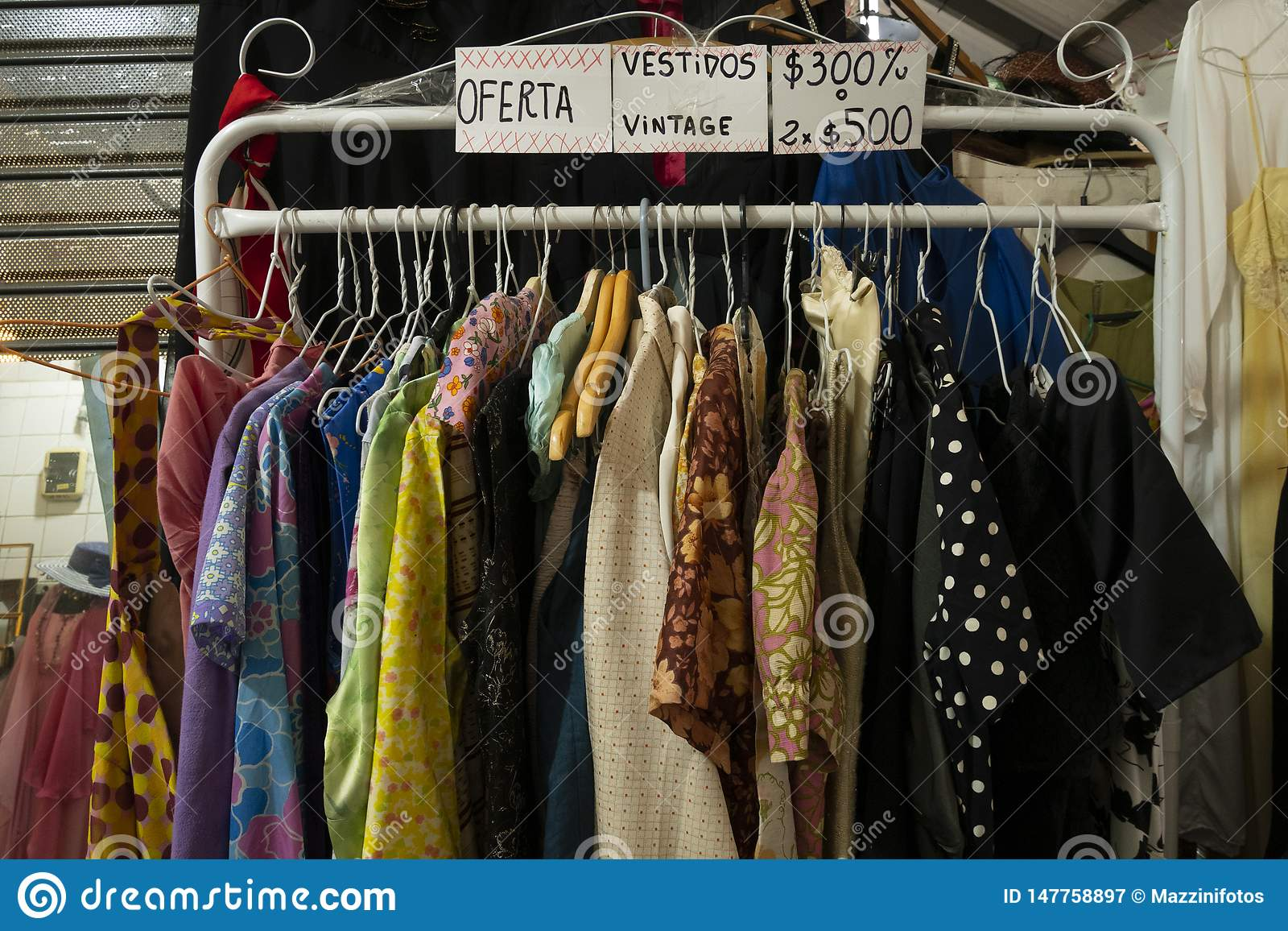 San Telmo Market, in the heart of the old neighborhood of the same name in the city of Buenos Aires, Argentina.