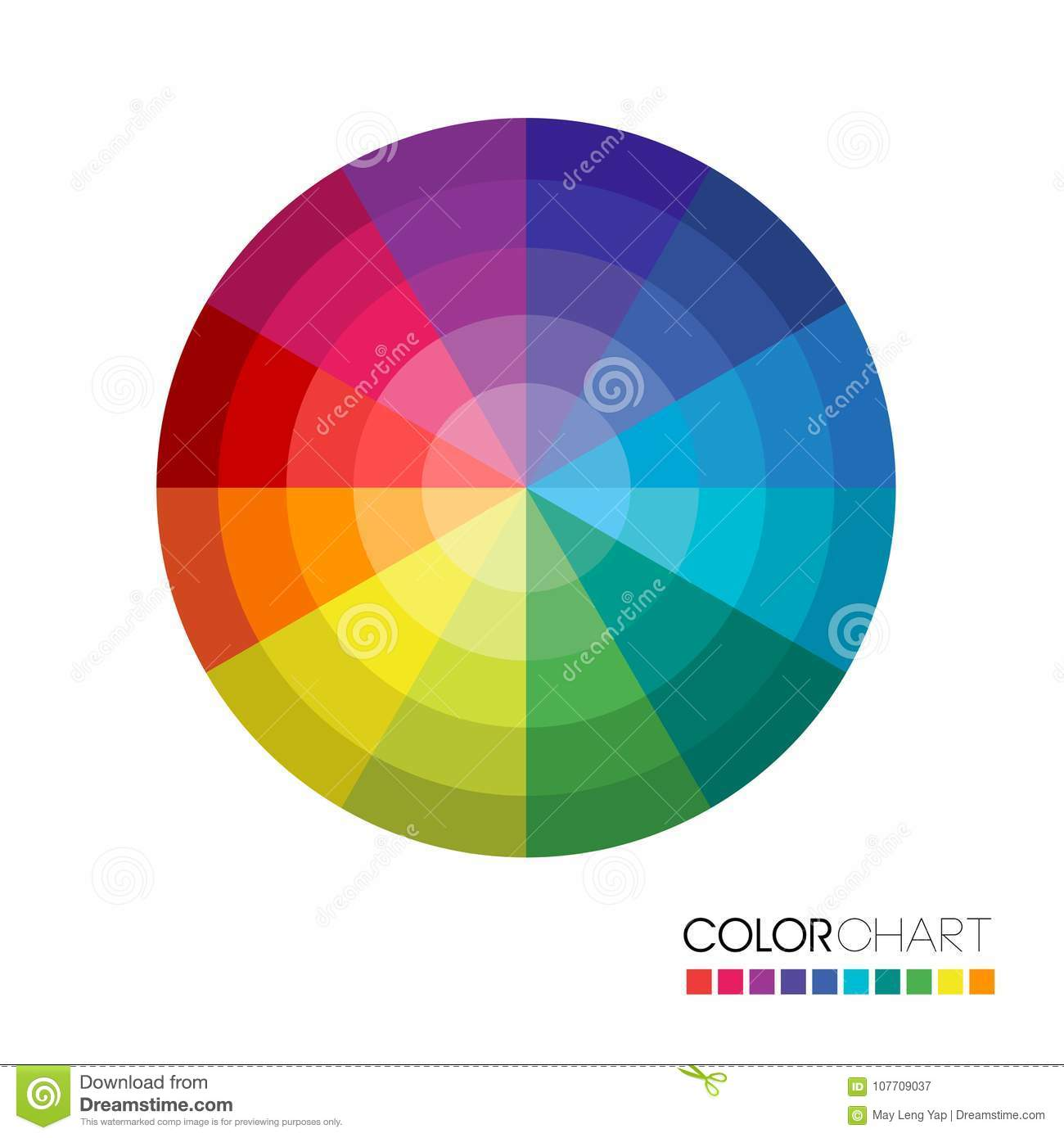 Useful Color Wheel Guide Stock Vector Illustration Of Chromatic