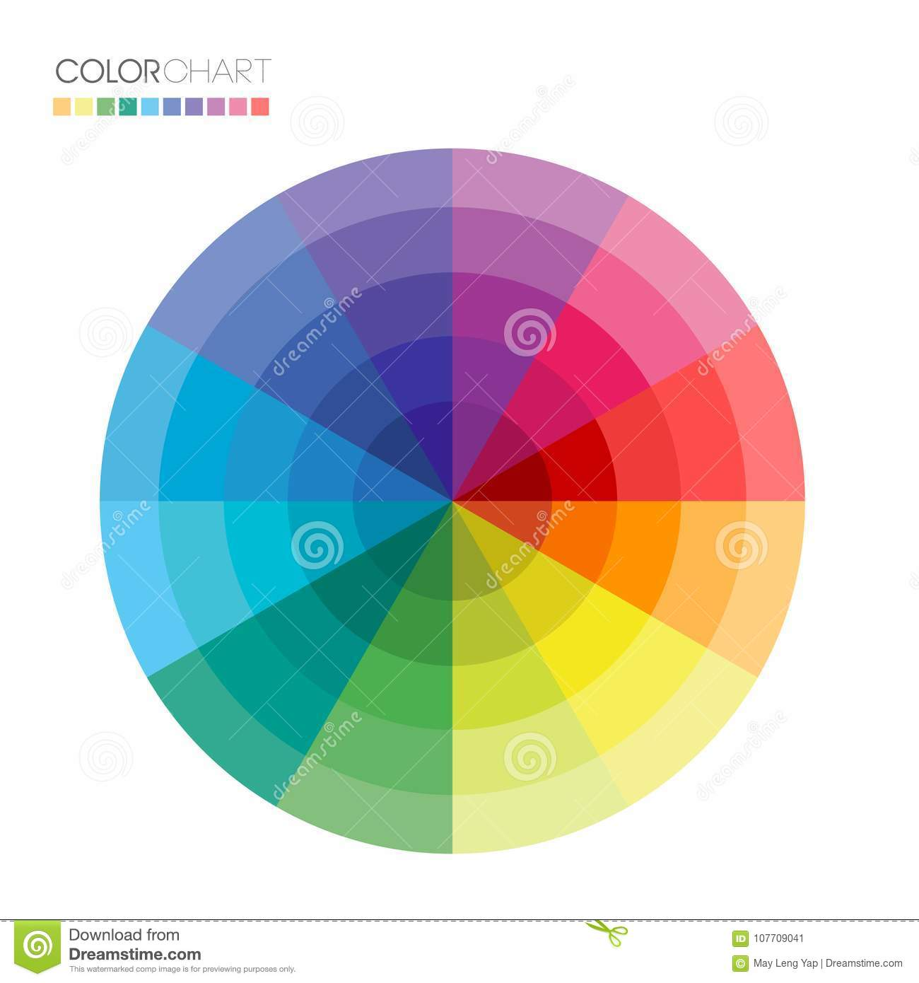 Useful Color Wheel Guide Stock Vector Illustration Of Shade 107709041