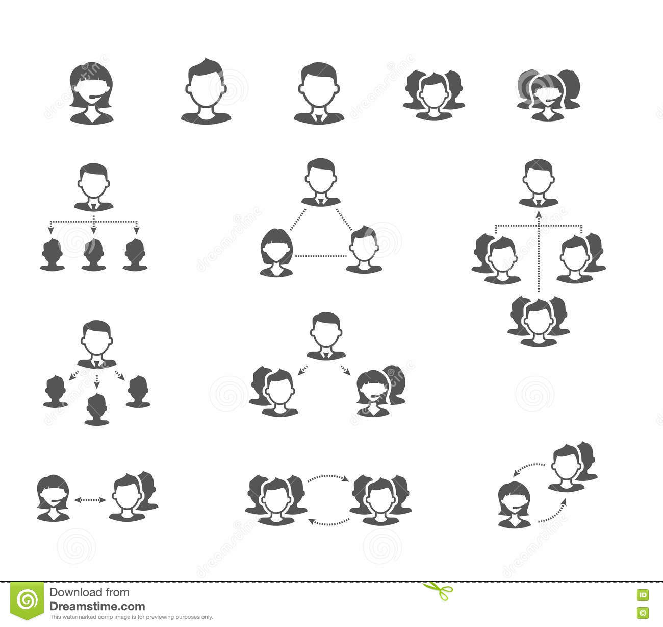 User collaboration diagram flat vector icons stock vector user collaboration diagram flat vector icons pooptronica Choice Image