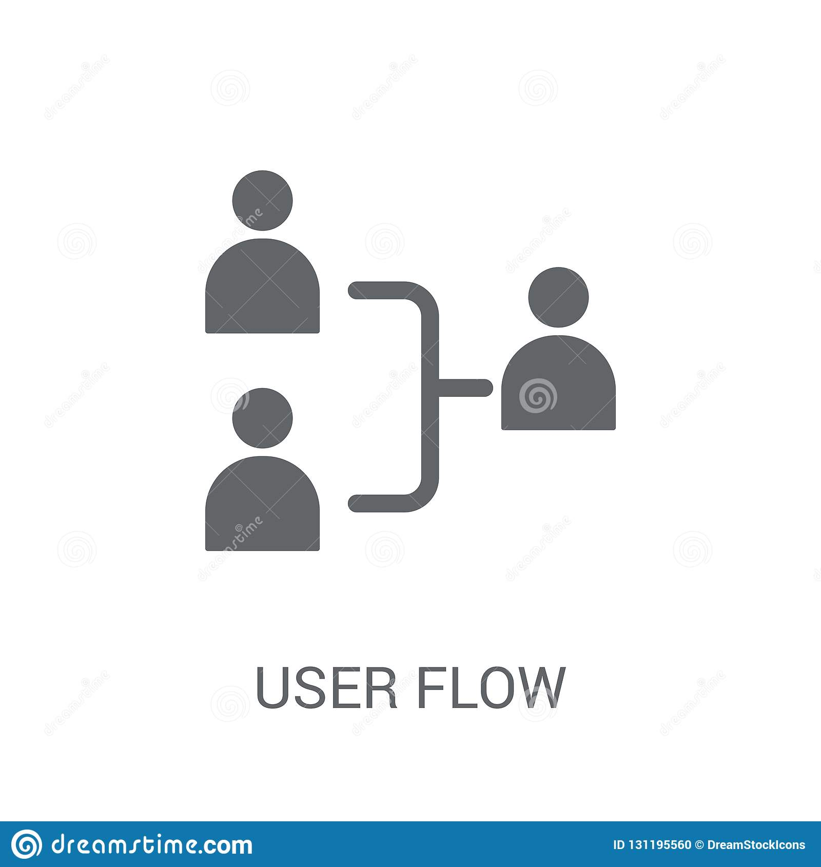 User flow icon. Trendy User flow logo concept on white background from Technology collection