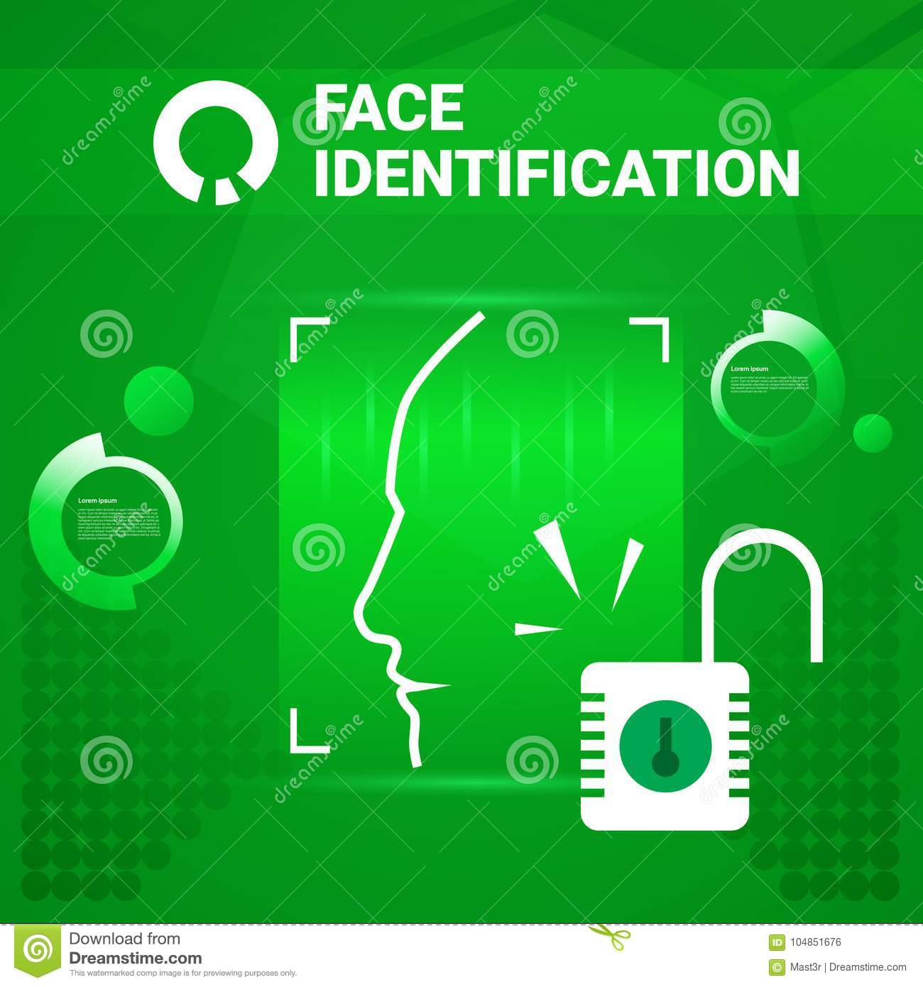 User Getting Access After Face Identification Scanning Modern Technology Of Biometrical Recognition Concept