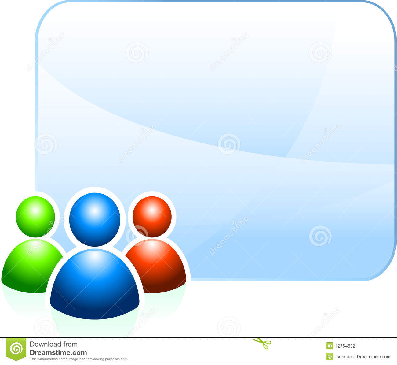 User Group Background With Empty Frame Stock Illustration ...