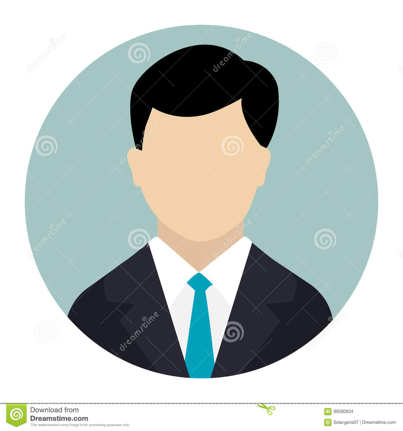 User Icon, Male Avatar In Business Suit,Vector Flat Design