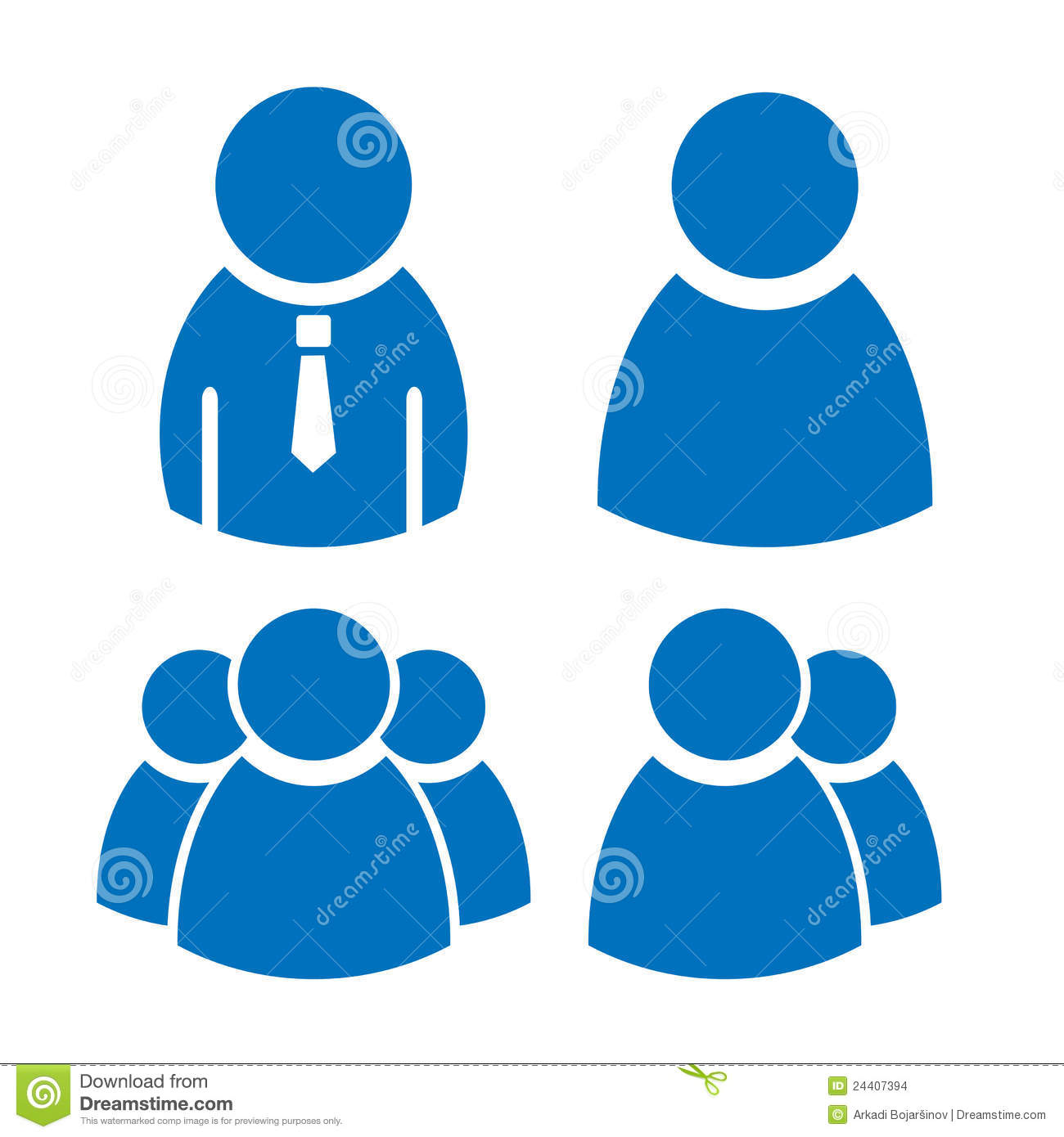 User Icons Set Stock Images - Image: 24407394
