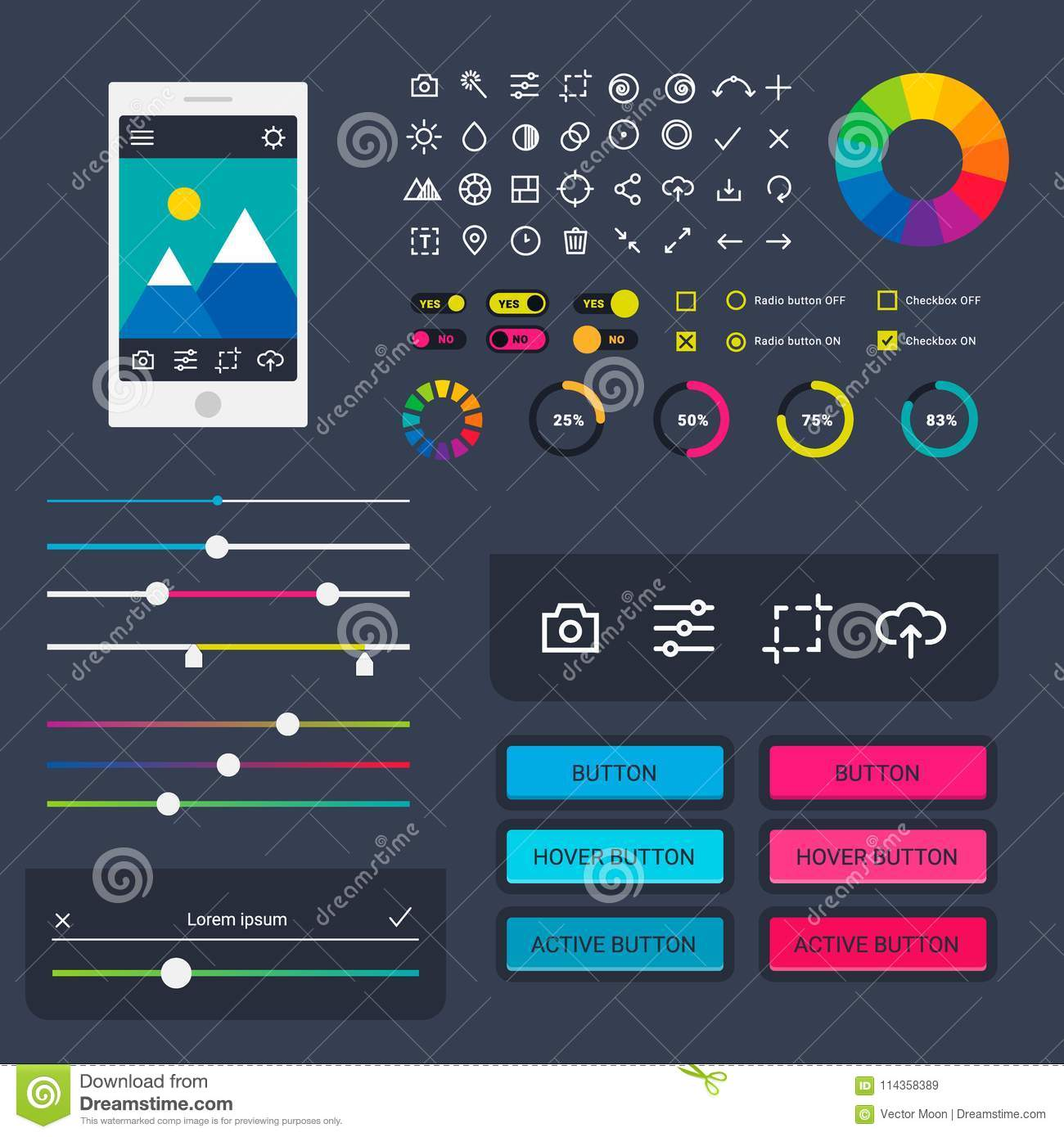 User interface vector phone laptop tab device mobile app indicators download user interface vector phone laptop tab device mobile app indicators download progress ui ux ccuart Gallery
