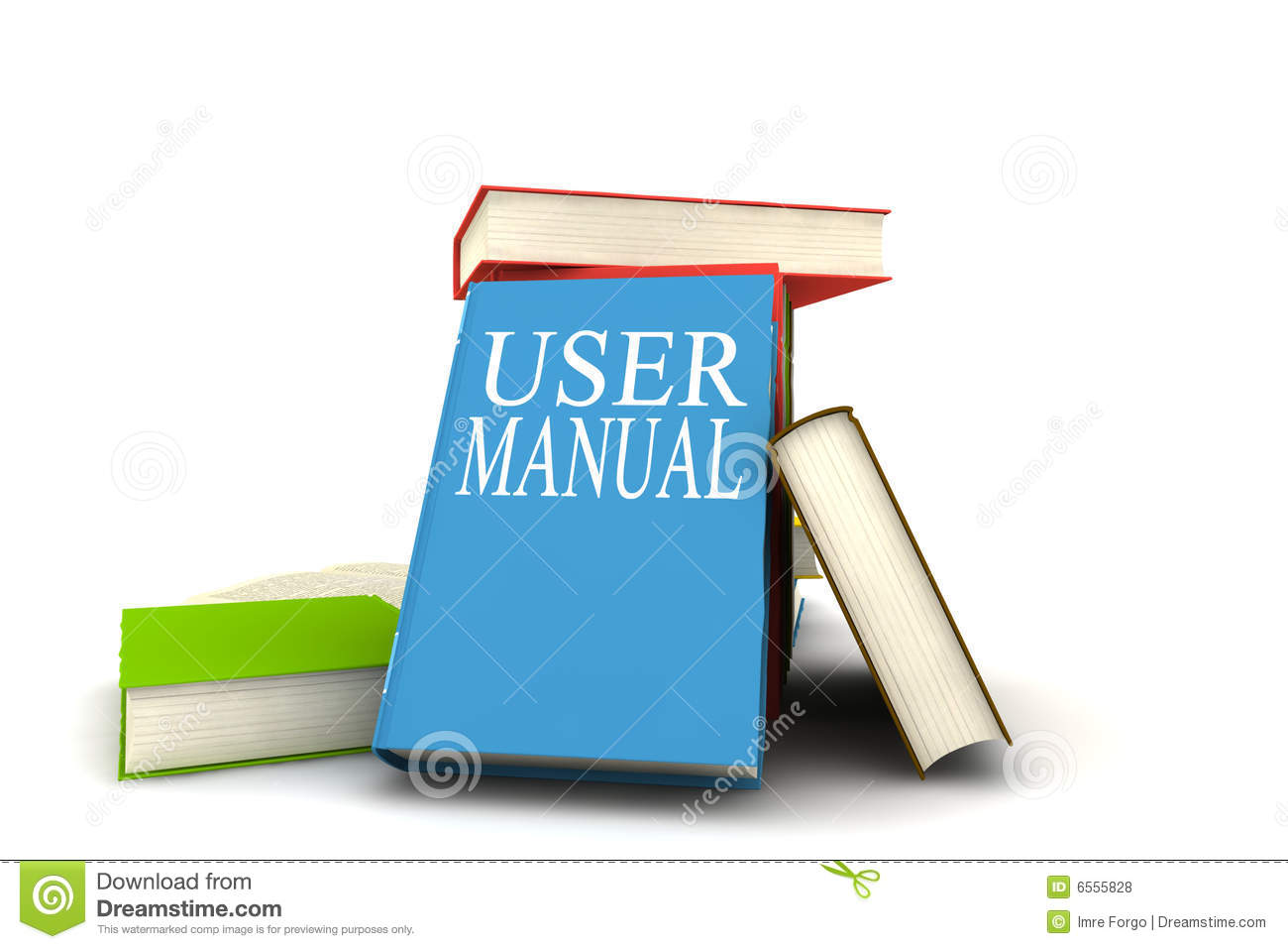 User Manual Books Stock Illustration  Illustration Of Literature